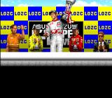 Redline: F1 Racer SNES Celebrating. This trophy seems to be heavy. The credits will appear in few seconds. Some MobyGames users dislike screenshots showing the credits. Fortunately this one is not showing anything.