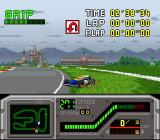 Redline: F1 Racer SNES Bad times. But nice view.