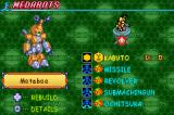 MedaBots: Metabee Game Boy Advance Your MedaBot information includes data on the various parts that are attached to it