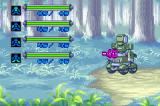 MedaBots: Metabee Game Boy Advance Here, you can see the opponent taking damage in the Woods