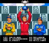 F1 Pole Position 2 SNES Winning a GP. Senna, Schumacher, and Prost. Three legends.