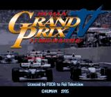 Human Grand Prix IV: F1 Dream Battle SNES Title Screen.