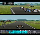 "Human Grand Prix IV: F1 Dream Battle SNES Pedro Lamy in action. Good pilot but shitty car. Nice view btw. Is this really a ""Dream Battle""...?"
