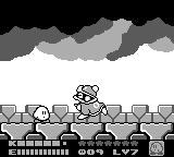Kirby's Dream Land 2 Game Boy A fight with King Dedede