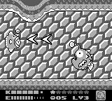 Kirby's Dream Land 2 Game Boy A boss fight