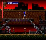 Castlevania: Rondo of Blood TurboGrafx CD Destroyed village, ominous fiery background, giant skeletons wandering... this day was slowly becoming a nightmare