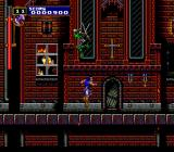 Castlevania: Rondo of Blood TurboGrafx CD Crazed undead assassins jumping in front of the church. Dude... have some respect to religion