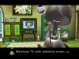 Chibi-Robo!: Plug into Adventure! GameCube Bizarre TV-watching - one of the many weirdly humorous scenes in this game