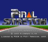 Final Stretch SNES Title screen.