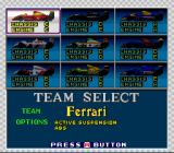 Final Stretch SNES Team select.