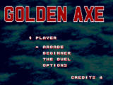 Golden Axe Windows Main menu