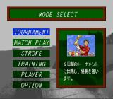 St Andrews: Eikō to Rekishi no Old Course SNES Mode select.