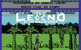 Legend of the Amazon Women Commodore 64 Title Screen.