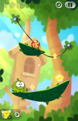Cut the Rope 2 Android An early level with two ropes
