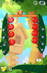Cut the Rope 2 Android Tap the balloons to pop them (Dutch version).