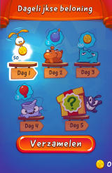 Cut the Rope 2 Android Daily rewards (Dutch version)
