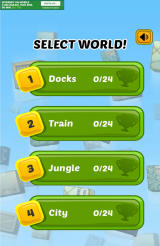 Swap The Box Android World selection screen