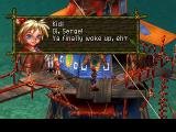 Chrono Cross PlayStation Characters have different accents in the English version. Kid here is cockney-like