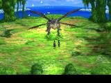 Chrono Cross PlayStation We made it to the Sky Dragon Isle. This is, as I've expected, the Sky Dragon himself. Note the lovely backgrounds with animated birds