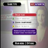 Sky Sports Football Quiz PlayStation The start of a game. After selecting the number of players and entering names the type of game must be chosen