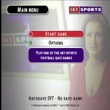 Sky Sports Football Quiz PlayStation The game's main menu
