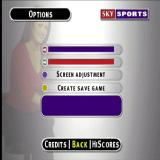 Sky Sports Football Quiz PlayStation These are the game configuration options