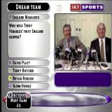 Sky Sports Football Quiz PlayStation A typical question. In the Dream team game the more questions the player gets right the more cash they have to spend on buying a player