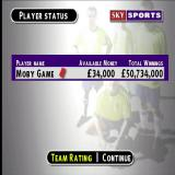 Sky Sports Football Quiz PlayStation At the end of the Dream team game there's a summary of the player's winnings