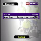 Sky Sports Football Quiz PlayStation At the end of a Dream team game the player will end up with a selection of players they have bought and a rating