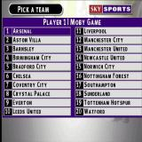 Sky Sports Football Quiz PlayStation The start of a League game. In the beginning the player chooses a team to represent them