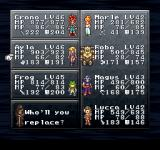 Final Fantasy Chronicles PlayStation Chrono Trigger: Here you can manage your party