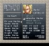 Final Fantasy Chronicles PlayStation Chrono Trigger: Status screen. Look, I have so many weapons!