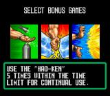 Art of Fighting SNES After two fights, you can choose from one of three bonus stages.