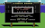 Leader Board: Executive Edition Commodore 64 Title Screen.
