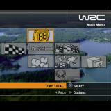 WRC II Extreme PlayStation 2 The main menu.