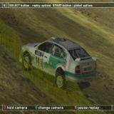 WRC II Extreme PlayStation 2 The post race action replay can be viewed from many camera angles