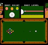 Exciting Billiard NES Taking the first shot