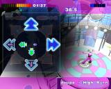 Dance:UK PlayStation 2 This is the Aerobics mode. Instead of points it records calories burned. It's hard keeping pace using a controller, trying to play the game while dancing would result in a serious workout