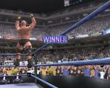 WWF Smackdown! Just Bring It PlayStation 2 The winner's celebration shows the stadium off rather well