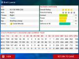 iOOTP Baseball 2014 iPad Player stats and emotion