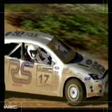 WRC World Rally Championship PlayStation 2 Between the title screen and the man menu is an animated sequence of cars tearing through the countryside in all conditions