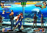 The King of Fighters 2000 Arcade Clark attacks Shingo