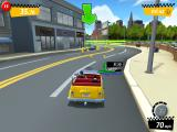 Crazy Taxi: City Rush iPad Stars and coins in the left lane