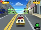 Crazy Taxi: City Rush iPad Driving a passenger.