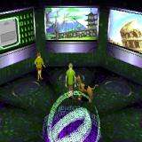Scooby-Doo and the Cyber Chase PlayStation This room, where Velma stays, is the game's menu. The green computer screen is save/load/exit, in the centre is the Japan level - the only one available at the start, next is Rome and so-on