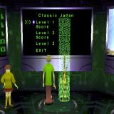 Scooby-Doo and the Cyber Chase PlayStation Only one character plays at a time. This is Scooby being teleported into the Japan level
