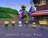 Rugrats in Paris: The Movie PlayStation The player gets to select their character from this crowd. There's a new character in the game, a little French girl from the movie. Now there's two girls, two boys and two don't knows