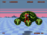Space Harrier II Windows The giant turtle is a boss.