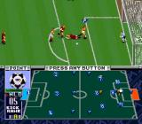 "Zico Soccer SNES The Dutch player is preparing to kick the ball. Notice the ""point""."