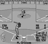 All-Star Baseball 99 Game Boy Here comes the pitch.